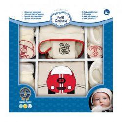 Chausson, bonnet et mitaines bébé