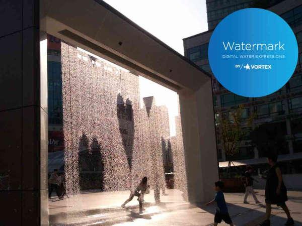 Rideau d'eau avec effet technologique